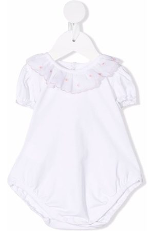 Siola Bodysuits & All-In-Ones - Ruffle-trim stretch-cotton shorties