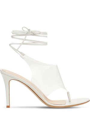 Gianvito Rossi Women Sandals - 85mm Plexi & Leather Thong Sandals
