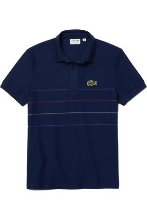"""Lacoste """"Made in France"""" Regular Fit Textured Cotton Polo Shirt"""