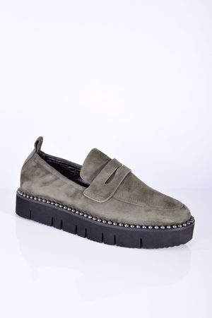 Kennel & Schmenger Malu XXL Suede Loafer in Army