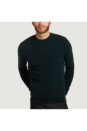L'exception Paris Sailor sweater in extra-fine merino wool made in Italy Vert sapin