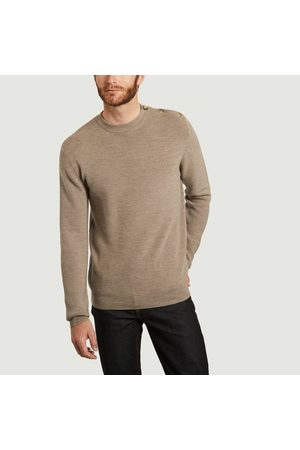 L'exception Paris Sailor sweater in extra-fine merino wool made in Italy Taupe