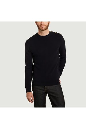 L'exception Paris Men Tops - Sailor sweater in extra-fine merino wool made in Italy Bleu marine