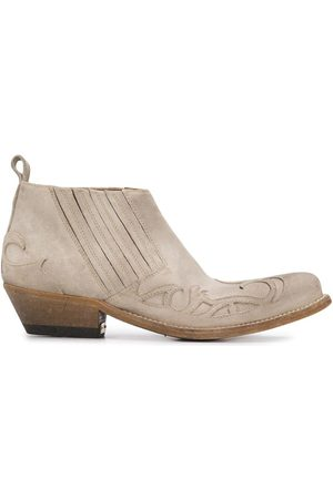 Golden Goose WOMEN'S G36WS499A3 BEIGE SUEDE ANKLE BOOTS