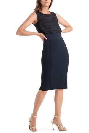 Marc Cain Collections Navy Knitted Skirt QC 71.03 M39 395