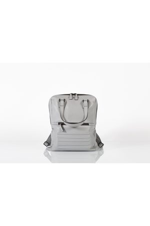 Holborn light grey two-in-one unisex leather backpack