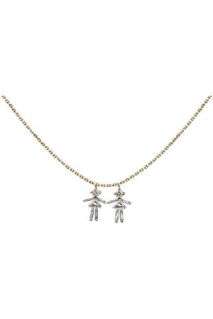 Little Ones Baguette Diamond Rose Gold Girl Necklace