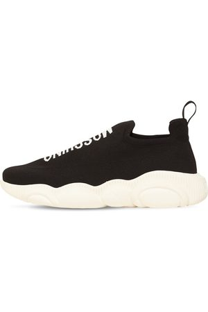 MOSCHINO Men Sneakers - Stretch Slip-on Sneakers W/teddy Sole