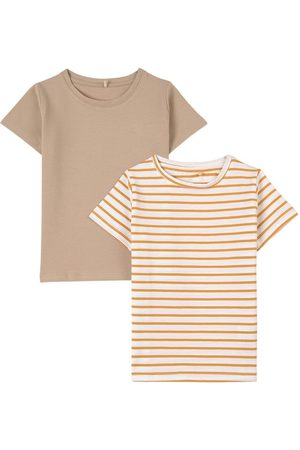 A Happy Brand 2-Pack Sand T-Shirts - Unisex - 86/92 cm - - T-shirts