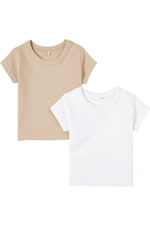 A Happy Brand 2-Pack Sand T-Shirts - Unisex - 62/68 cm - - T-shirts