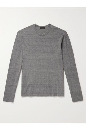James Perse Men Slim-Fit Mélange Recycled Cotton Sweater