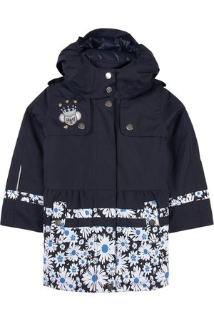 Poivre Blanc Kids - Navy Floral Trenchcoat - Girl - 2 years - Navy - Trench coats