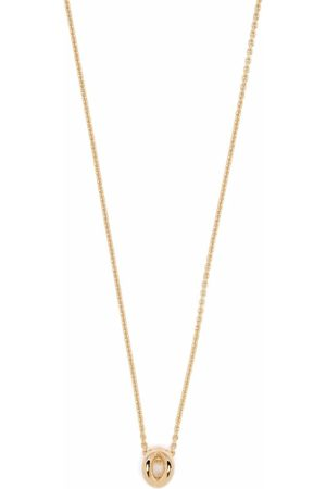 Le Gramme 18kt yellow 1g polished entrelacs pendant and chain necklace