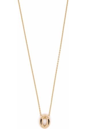 Le Gramme 18kt yellow 3g entrelacs pendant and chain necklace