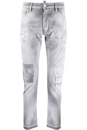 Dsquared2 Ripped-detailing low-rise skinny jeans