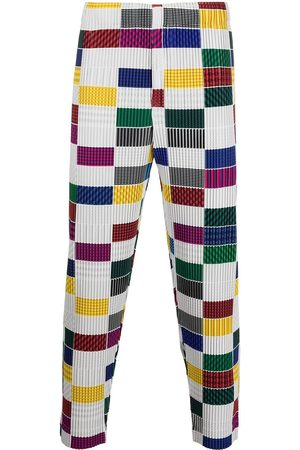 HOMME PLISSÉ ISSEY MIYAKE House check-pattern trousers
