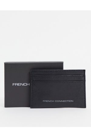 French Connection Classic contrast cardholder in and gunmetal