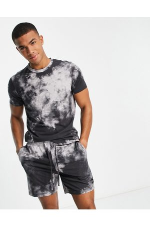 Hollister Lounge set shorts and t-shirt in tie dye