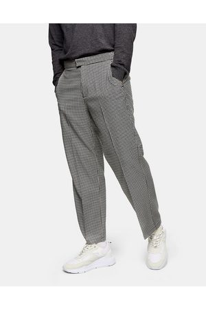 Topman Wide leg trousers in and white check