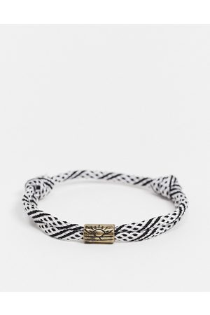 Classics 77 Cord and bead bracelet in black and