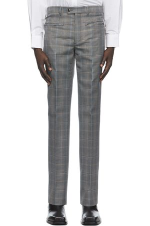 Givenchy & Beige Wool Prince of Wales Trousers