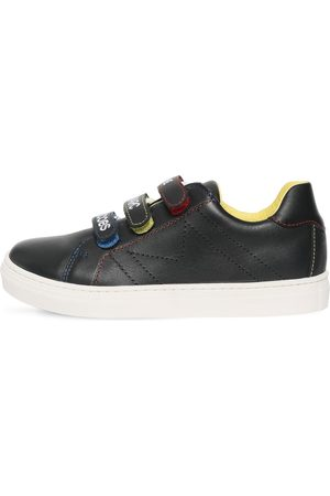 Marc Jacobs Boys Sneakers - Logo Straps Leather Sneakers
