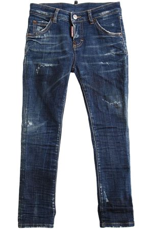 Dsquared2 Distressed Stretch Cotton Jeans
