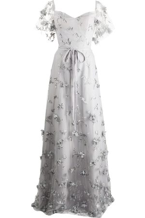 Marchesa Notte Bridesmaids Women Printed Dresses - Portici floral-embroidered dress