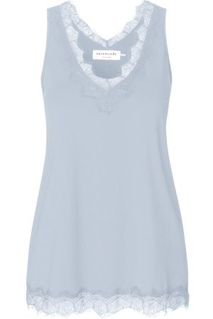 Rosemunde Lace Trimmed Top in Heather Sky Pale 4220-205