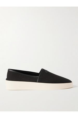 FEAR OF GOD Men Casual Shoes - Leather-Trimmed Canvas Espadrilles