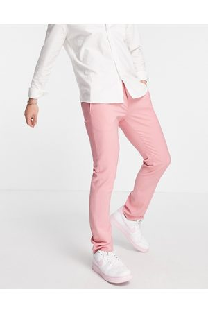 Twisted Tailor Men Slim Pants - Skinny fit suit trousers in rose