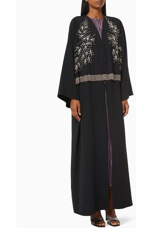 Noor The Label Women Abayas - Abaya with Beaded Embroidery