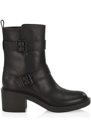 Gianvito Rossi Ryder Leather Mid-Calf Boots