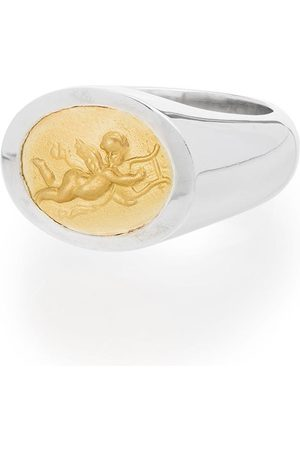 Shola Branson Sterling and 14kt gold Cupid ring