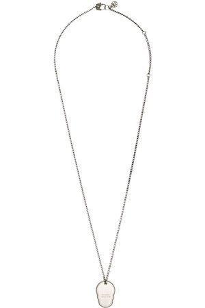 Alexander McQueen Skull Tag bead-chain necklace