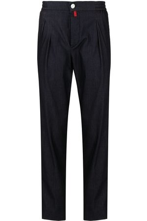 Kiton Men Pants - High-waisted tapered trousers