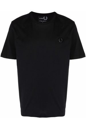 Fred Perry Men Short Sleeve - Chest logo cotton T-shirt