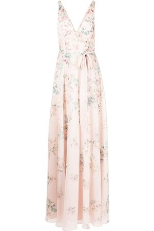 Marchesa Notte Floral-print tulle sleeveless gown