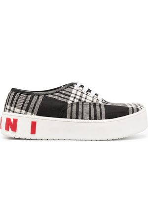 Marni Men Sneakers - Check print lace-up sneakers
