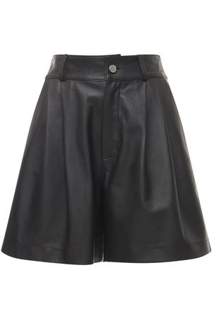 RED VALENTINO Women Shorts - Soft Leather Pleated Shorts
