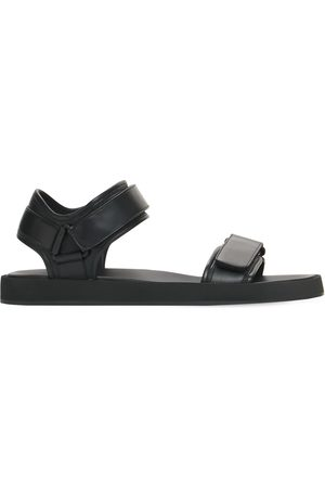 The Row 10mm Hook And Loop Strap Leather Sandals