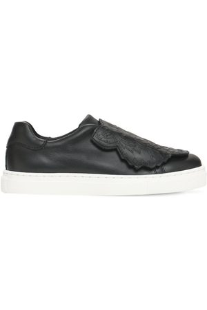 Kenzo Tiger Leather Strap Sneakers