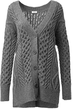 AKRIS Chunky Cable Knit Wool & Camel Hair-Blend Cardigan