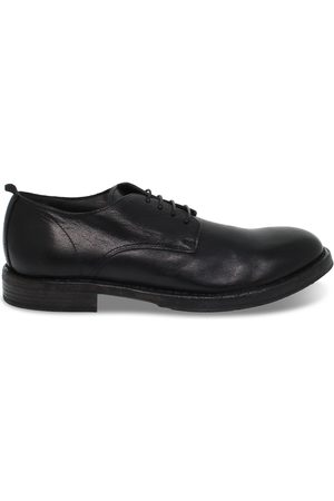 Moma MEN'S 2AW003BLACK LEATHER LACE-UP SHOES