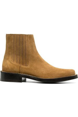 Kenzo MEN'S FA65BT008L5714 LEATHER ANKLE BOOTS