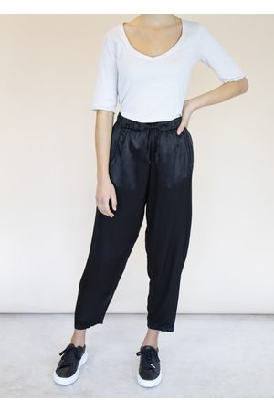 Emma Vowles RENE TAPERED SATIN TROUSERS