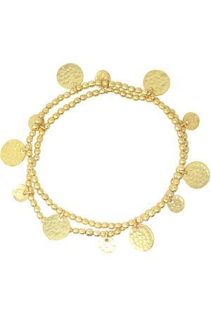 The West Village Set of 2 beaded bracelets with coins