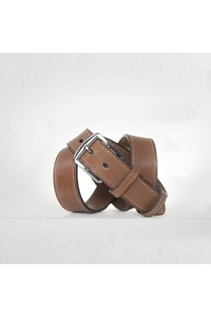 Anderson's Andersons Classic Leather Bridle Stitched Belt - Tan 3.5cm