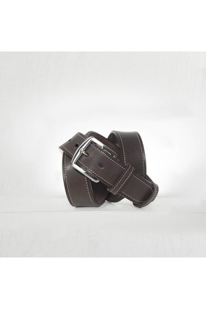 Anderson's Andersons Classic Leather Bridle Stitched Belt - 3.5 cm