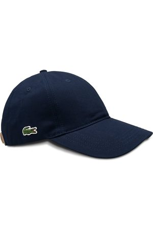 Lacoste RK4709 Embroidered Cotton Cap - Navy